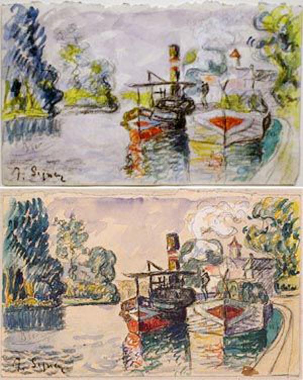 El original Paul Signac y la copia de Mark Landis