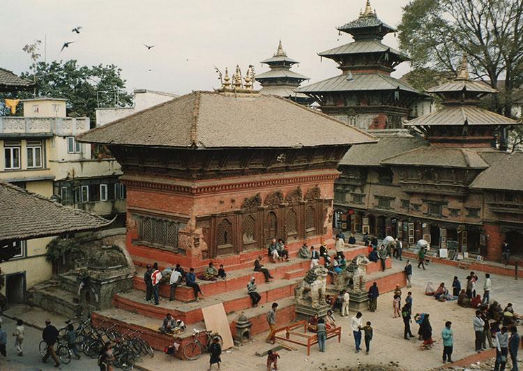 Plaza Durbar Katmandu antes