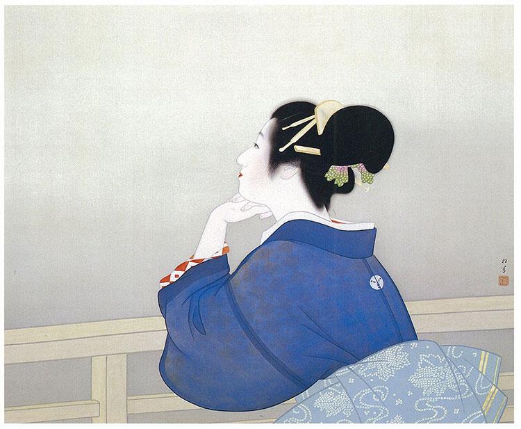 """""""Woman Waiting for the Moon to Rise"""" de Shoen Uemura"""