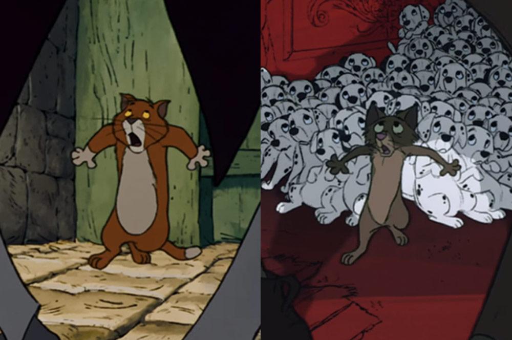 El Reciclaje De Escenas Animadas Que Hizo Disney En Sus