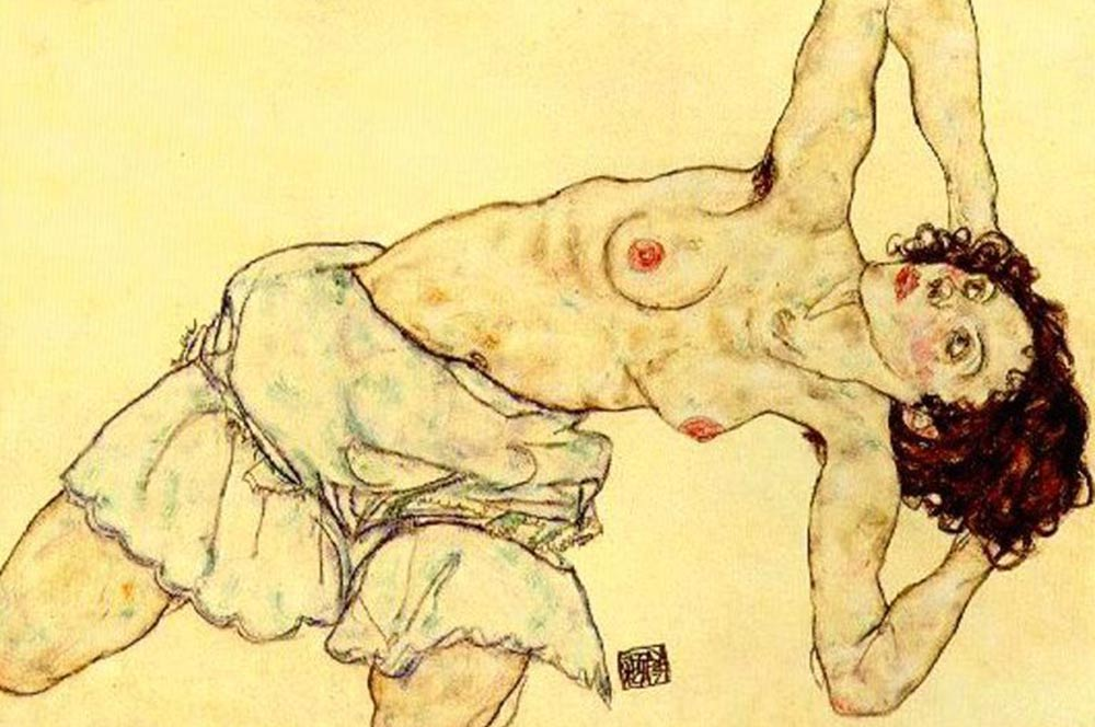 Egon-Schiele-Nude-woman-with-a-skirt-large