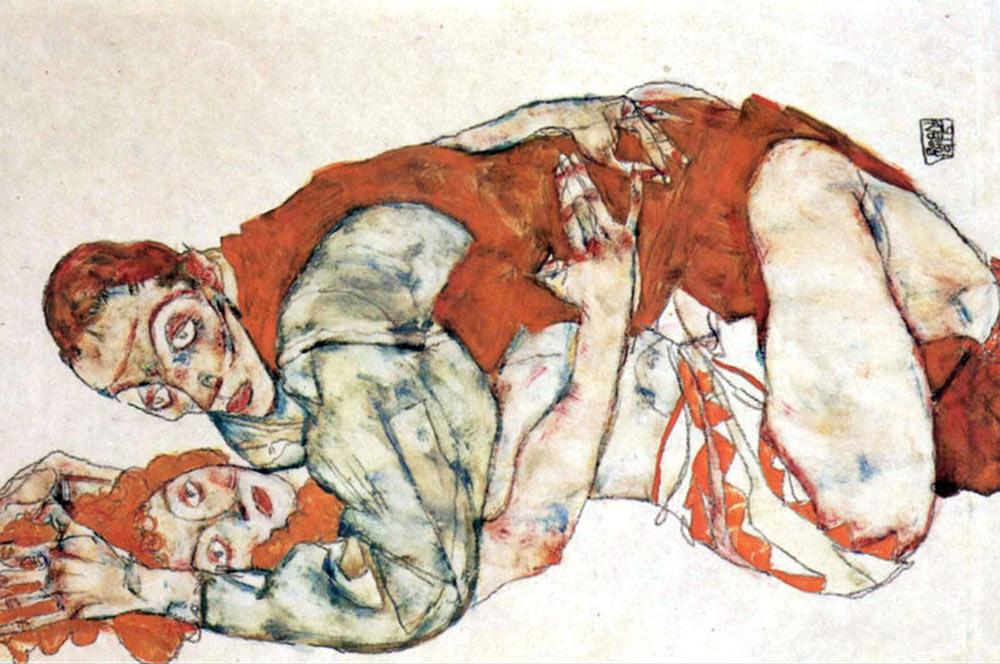 Egon-Schiele-Sexual-act,-study-large