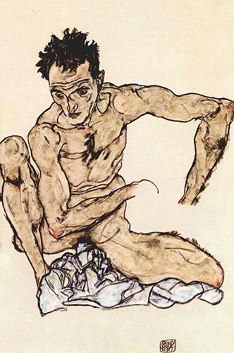 Egon-Schiele-Squatting-male-act-(selfportrait)-large