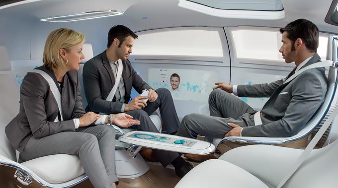 Interior de Mercedez-Benz F 015