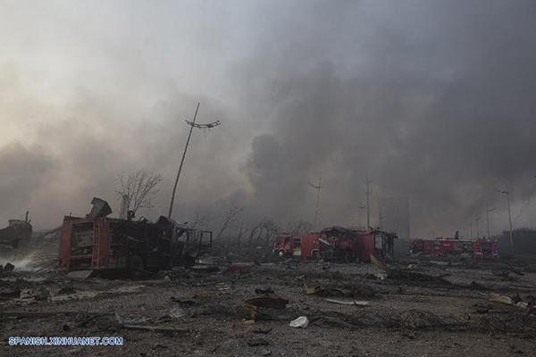 Explosion China Tianjin