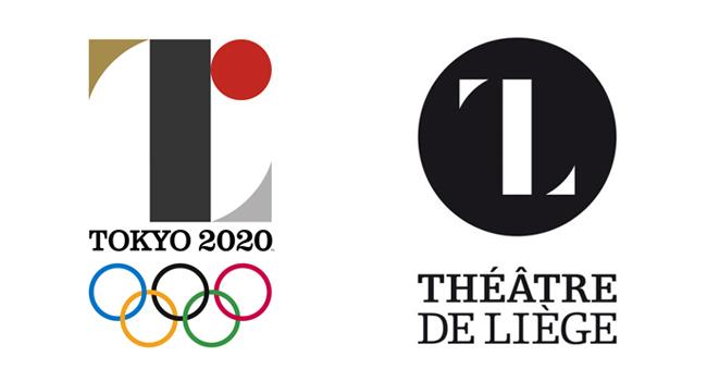 Logo de Tokio 2020 y de Theatre de Liege