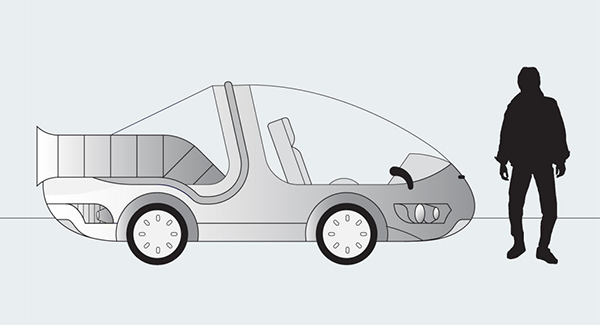 Vehículo Project Flux Google Back to the Future