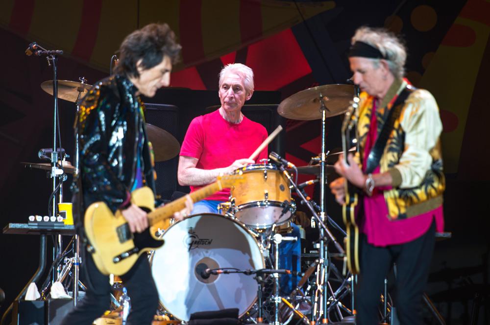 Charlie Watts - The Rolling Stones en Chile   Fotógrafo: Javier Valenzuela