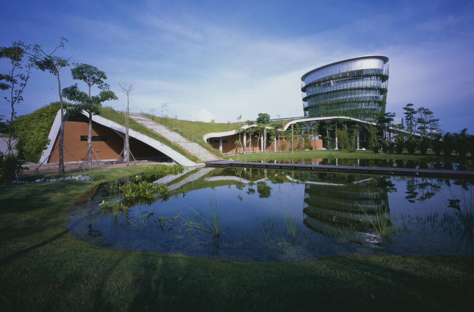 Arquitectura industrial: Fábrica en la tierra