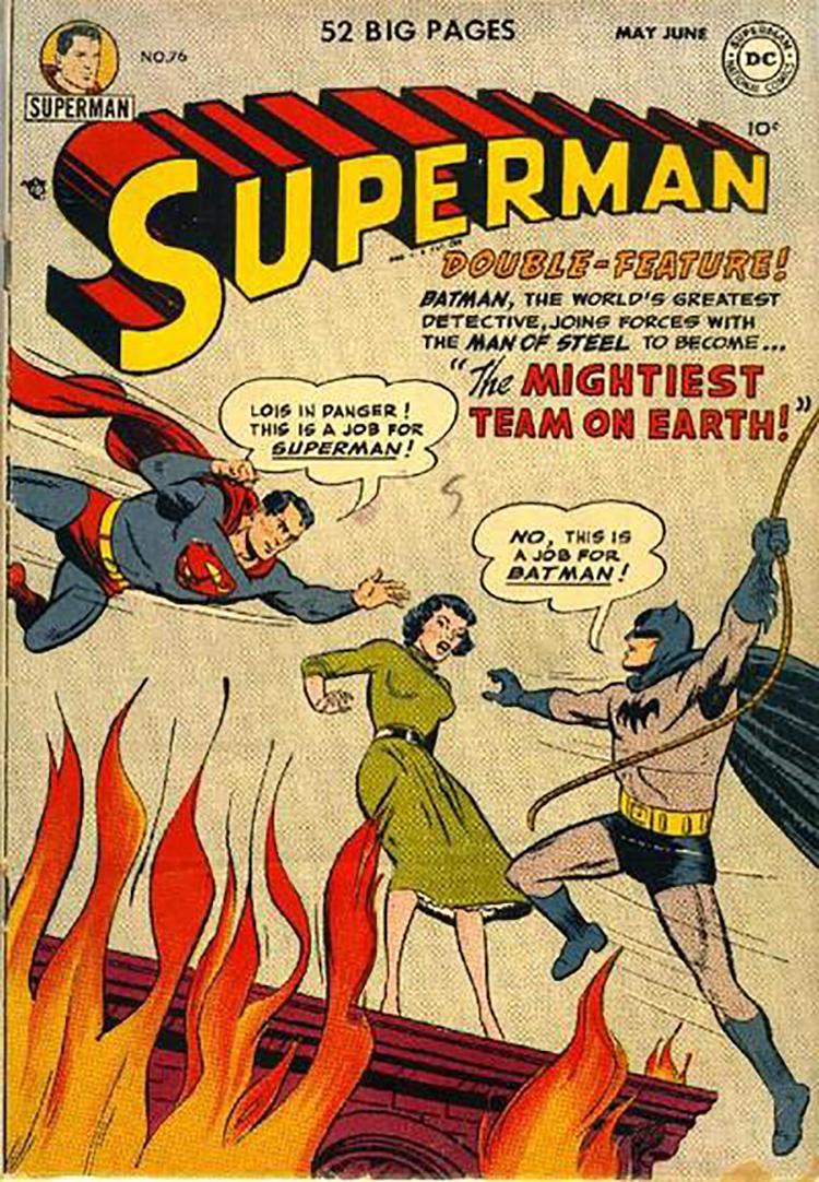 Batman v Superman comic 1952