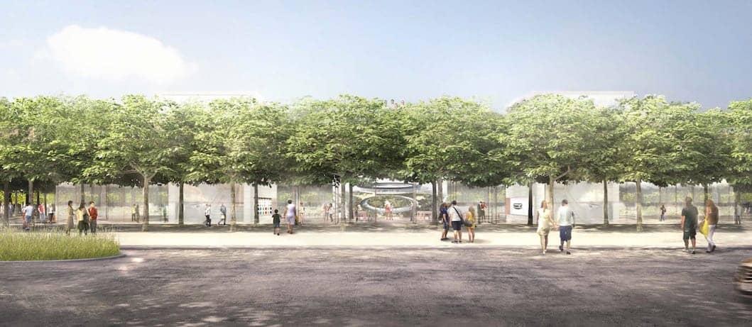 Apple Campus 2 paisaje