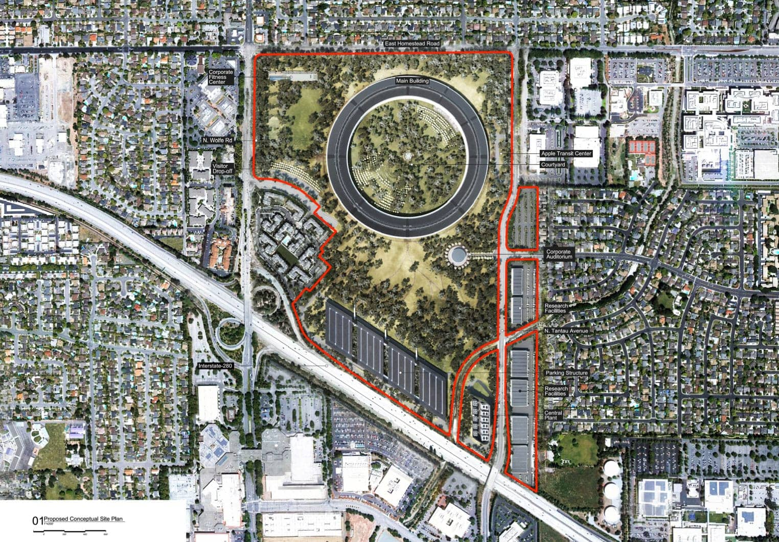 Apple Campus 2 plan