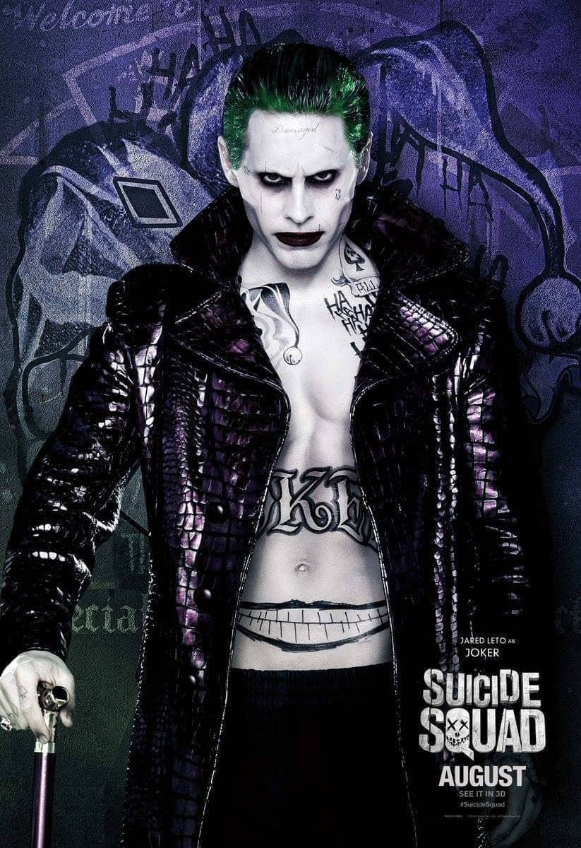 Suicide Squad protagonista poster Joker Jared Leto