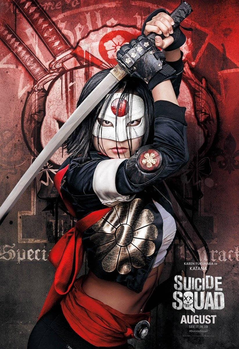 Suicide Squad protagonista poster Katana