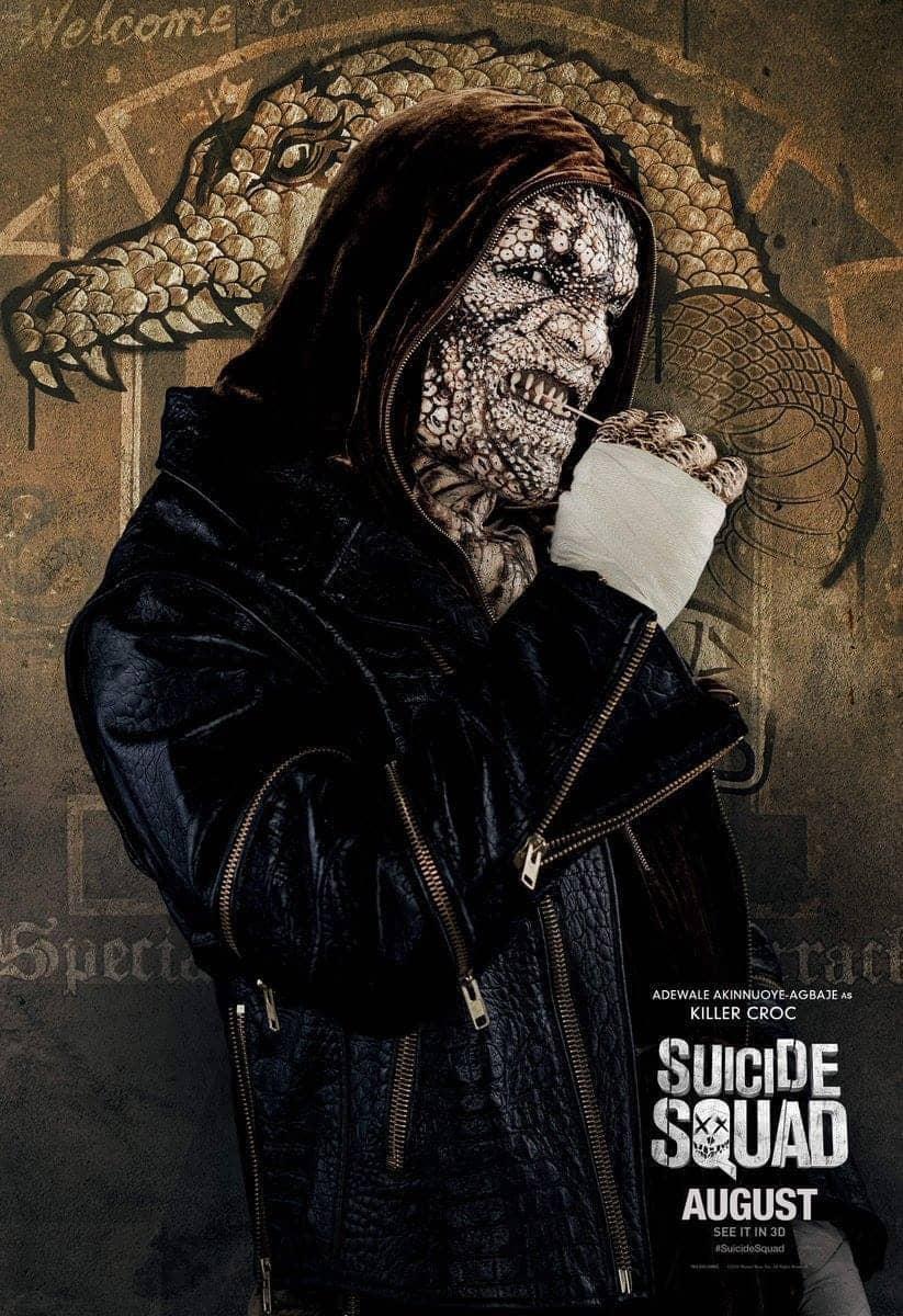 Suicide Squad protagonista poster Killer Croc