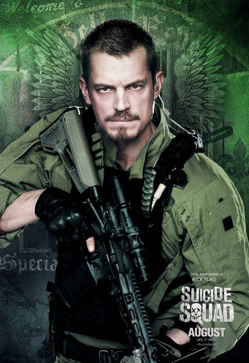 Suicide Squad protagonista poster Rick Flag