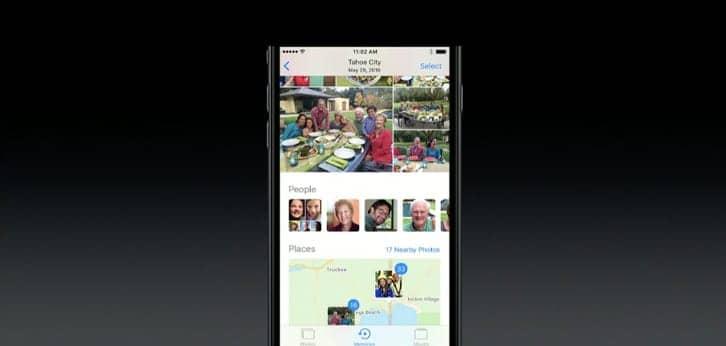 iOS 10 photos memories