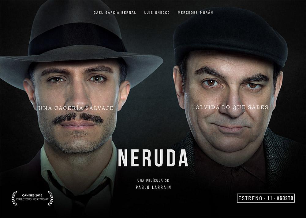 'Neruda' con Gabriel García y Luis Gnecco